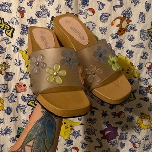 Y2K Lower East Side Floral Sandals